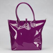 Womens Tote bag- Vegan Shoulder Handbag Purse - Waterproof Faux patent leather