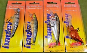 Four (4) Vintage Bagley Wood Crankbait Fishing Lures