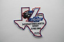 VINTAGE 1988 JUNE 1ST  ANNUAL CHEVROLET TEXAS EMBROIDERY APPLIQUÉ PATCH--003