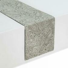 """Waterford Esmerelda Taupe 90"""" Paisley Table Runner Table Linens"""