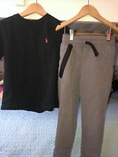 Boys Size 6 Outfit - Tea Collection Pants + Ralph Lauren Tee