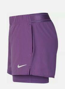 Nike Court Flex Womens Tennis 2 In 1 Shorts Size Medium BNWT
