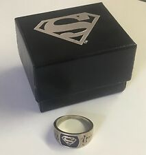 Superman Logo Silver Ring Size 10 Solid Sterling Silver DC 1998 NIB