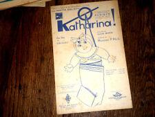 Ô ! Katharina one step des Cath'rinetts pour chant seul 1924 Richard Fall