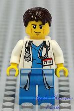 NEW Lego MALE DOCTOR Hospital Minifig w/Lab Coat Stethoscope Torso - Man/Nurse