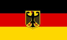 Flagge / Fahne Deutschland mit Adler Hissflagge 150 x 250 cm XXL mit 2 Ösen