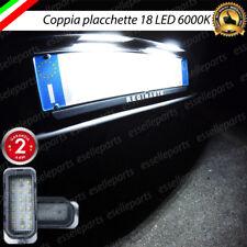 COPPIA PLACCHETTE A LED LUCI TARGA 18 LED JAGUAR XJ CANBUS NO AVARIA BIANCO