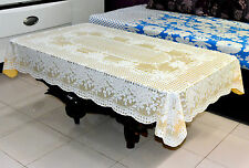 """TABLE CLOTH - 36"""" x 54"""" Katwa Clasic Lace Vinyl Tablecloth Rose Design (Gold)"""