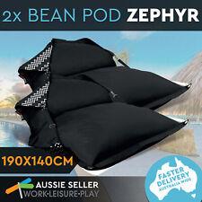 2x Bean Bag Cover Bed Lounge Outdoor Indoor Camping Waterproof Beanbag Zigzag