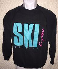 Black Vintage Ski Keystone Colorado Sweatshirt size adult Medium