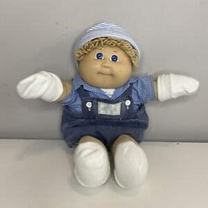 Cabbage Patch Kids Baby doll 1982 Coleco Dimple Original Dungarees Blue Eyes Toy