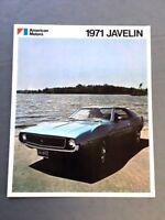 1971 American Motors AMC Javelin Original Car Sales Brochure Catalog - AMX SST