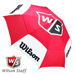 "WILSON STAFF 68"" TOUR DUAL CANOPY VENTED GOLF UMBRELLA BROLLEY / NEW 2020 MODEL"