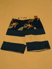 Vans New Era Boadshort 18 Boy's Size Youth 26/12 Lapis Blue-Hawaii Floral