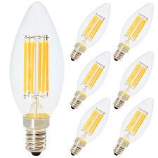 6X E14 6W C35 LED Nicht Dimmbare Glühfaden Kerze Birnen Warmweiß 2700K