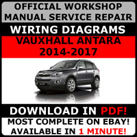 OFFICIAL WORKSHOP Service Repair MANUAL to Vauxhall Antara Opel Captiva 2014-17