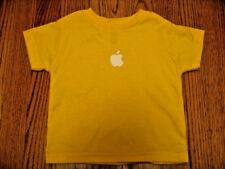 APPLE logo T-SHIRT Yellow 2T Toddler BRAND NEW NWoT Boy Girl tee Child Kids baby