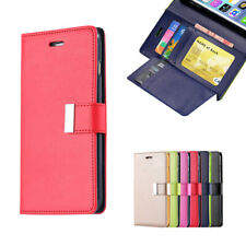 For iPhone 8 Plus 6 6s 7 Plus Leather Wallet Case Flip Card Shockproof Cover