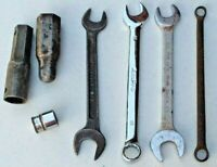 Lot of 7 Tools: 4 Wrenches, 2 Spark Plug Wrenches, 1 Snap-On 16mm Socket