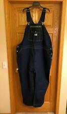 LIBERTY Bib Overalls Size 54W x 30L Original Fit Denim Jeans Thick Stitch Blue