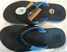NEW MEN REEF COMFORT SANDA FLIP FLOP SLAMMED ROVER BLACK/BLUE SIZE  8 AUTHENTIC