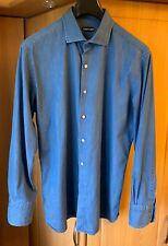 Tom Ford Mens Denim Shirt Size EU 44 UK 17.5 £410