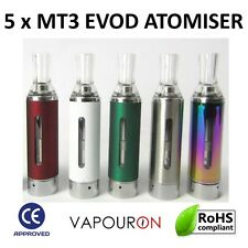 5 x  MT3 EVOD Colour Atomiser E-Cig Vape Pen Coil Replacement Clearomizer 2ml UK