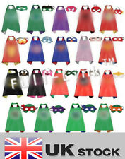 Children Kids Superhero Fancy Dress Costume Cape Mask Super Hero Outfit hallowee