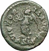 Valentinian II 384AD  Authentic  Ancient Roman Coin VICTORY ANGEL Nike  i27940