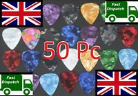 UK 50 Guitar Plectrums Pics Picks Celluloid Acoustic Electric Mixed dunlop Mixed