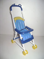 2002 Mattel Blue Stroller for Barbie Baby Happy Family Replacement Doll Rare Euc