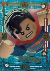 Bleu Océan lego Batman Carte à Collectionner Trading Numéro 13 Ultra Superman