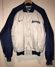 Seattle Mariners NIKE Jacket Satin Bomber Coat RARE Vintage 1990's NWOT 🔥