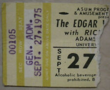 9-27-75 Edgar Winter/Rick Derringer *Vintage Rare* Concert Ticket Stub Adams F.H