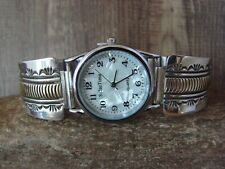 Native American Indian Jewelry Sterling Silver 14K Gold Fill Watch