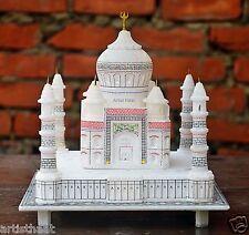 Nirvana-Class 9 Inch Taj Mahal Replica Alabaster Model Decorative Gift Item