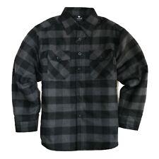 YAGO Men's Plaid Flannel Button Down Casual Shirt Jacket Black/Gray/A3B (S-5XL)