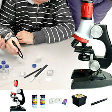 Microscope Kit Lab LED 100X-1200X Educational Toy Gift Biological Microscope HOT