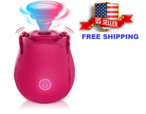 Sex Toy Waterproof Clit Pump Sucking Rose Vibrator Dildo Sucker Women 7 Speeds