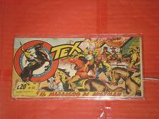 TEX STRISCIA ORIGINALE n° 10 -del 1956-12° SERIE topazio  -no araldo o zagor