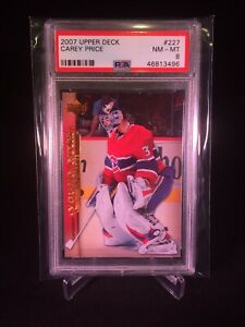 2007-08 Upper Deck Series 1 Hockey Carey Price Young Guns Rookie Card PSA 8 #227