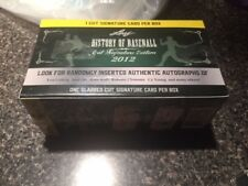 2012 Leaf History Of Baseball Cut Signature Edition box