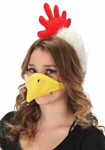 Plush Chicken Headband & Beak Kit