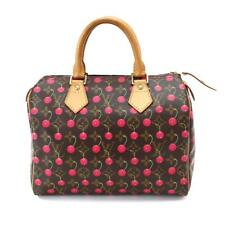 87fad62ea783 Auth LOUIS VUITTON Monogram Cherry Speedy 25 Hand Bag Brown M95009 90060179