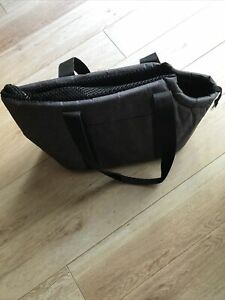 LUXURY GREY PADDED DOG/PUPPY SMALL SHOULDER/HAND BAG/TOTE CARRIER