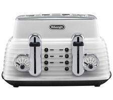 Delonghi Scultura CTZ4003.W Toaster 4 Slices White 1800W Defrost & Reheat