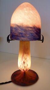 Jugendstil - Tischlampe  Pate  (Pâte) de Verre