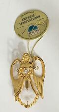 24K Gold Plated Angel Ornament Crystal Temptations Spectra Crystals Swarovski
