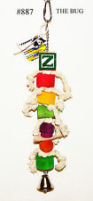 Wooden And Rope Bug Medium Pet Parrot Bird Cage Toy Conure Small Cockatoo Lorie