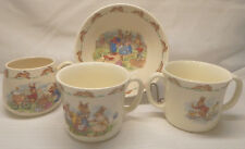 Royal Doulton BUNNYKINS Mug and Bowl (Barbara Vernon) plus 2 later Mugs